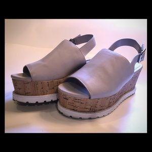 Forever 21 Flatform Color Block Sandals Size 8